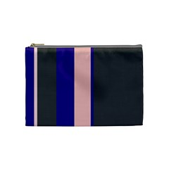 Purple, Pink And Gray Lines Cosmetic Bag (medium)  by Valentinaart