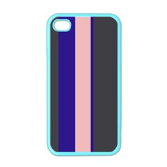 Purple, Pink And Gray Lines Apple Iphone 4 Case (color) by Valentinaart