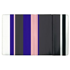 Purple, Pink And Gray Lines Apple Ipad 3/4 Flip Case by Valentinaart