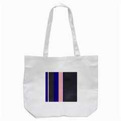Purple, Pink And Gray Lines Tote Bag (white) by Valentinaart