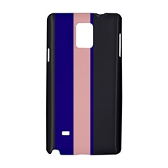 Purple, Pink And Gray Lines Samsung Galaxy Note 4 Hardshell Case by Valentinaart