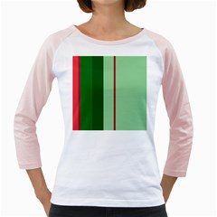 Green And Red Design Girly Raglans by Valentinaart