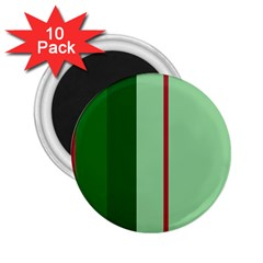 Green And Red Design 2 25  Magnets (10 Pack)  by Valentinaart