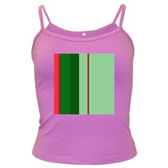 Green And Red Design Dark Spaghetti Tank by Valentinaart