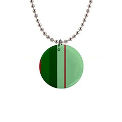 Green And Red Design Button Necklaces