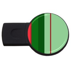 Green And Red Design Usb Flash Drive Round (4 Gb)  by Valentinaart