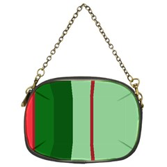 Green And Red Design Chain Purses (two Sides)  by Valentinaart