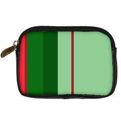 Green And Red Design Digital Camera Cases by Valentinaart