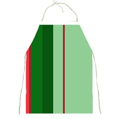 Green And Red Design Full Print Aprons by Valentinaart
