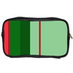 Green And Red Design Toiletries Bags