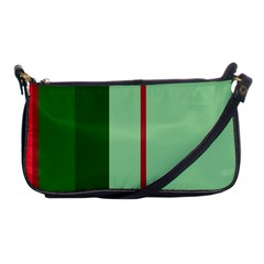 Green And Red Design Shoulder Clutch Bags by Valentinaart