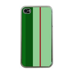 Green And Red Design Apple Iphone 4 Case (clear) by Valentinaart