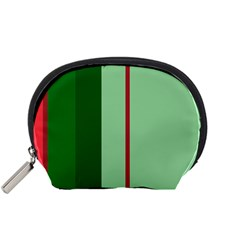 Green And Red Design Accessory Pouches (small)