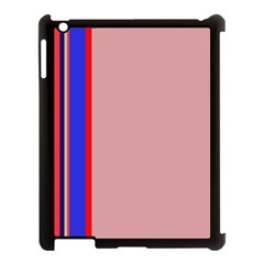 Pink Elegant Lines Apple Ipad 3/4 Case (black) by Valentinaart