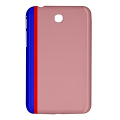 Pink Elegant Lines Samsung Galaxy Tab 3 (7 ) P3200 Hardshell Case  by Valentinaart