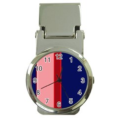 Pink And Blue Lines Money Clip Watches by Valentinaart