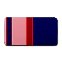 Pink And Blue Lines Medium Bar Mats by Valentinaart