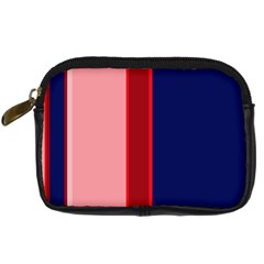 Pink And Blue Lines Digital Camera Cases by Valentinaart