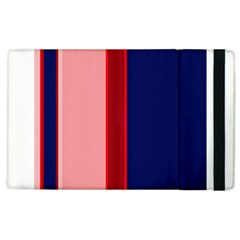 Pink And Blue Lines Apple Ipad 3/4 Flip Case by Valentinaart