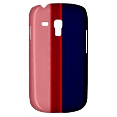 Pink And Blue Lines Samsung Galaxy S3 Mini I8190 Hardshell Case by Valentinaart