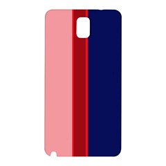 Pink And Blue Lines Samsung Galaxy Note 3 N9005 Hardshell Back Case by Valentinaart