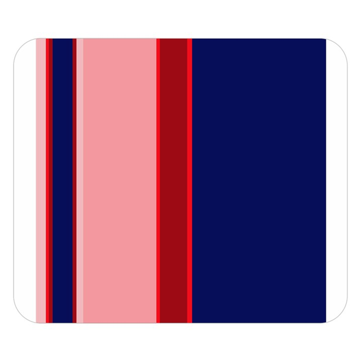 Pink and blue lines Double Sided Flano Blanket (Small)