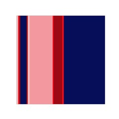 Pink And Blue Lines Small Satin Scarf (square) by Valentinaart