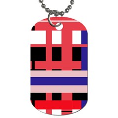 Red Abstraction Dog Tag (one Side) by Valentinaart
