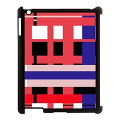 Red Abstraction Apple Ipad 3/4 Case (black) by Valentinaart