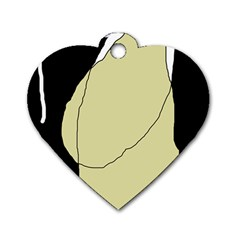 Elegant Design Dog Tag Heart (two Sides) by Valentinaart