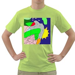 Crazy Abstraction Green T Shirt by Valentinaart