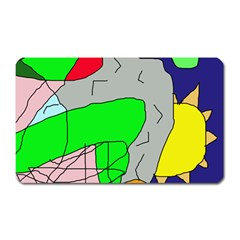 Crazy Abstraction Magnet (rectangular) by Valentinaart