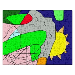 Crazy Abstraction Rectangular Jigsaw Puzzl by Valentinaart