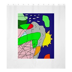 Crazy Abstraction Shower Curtain 66  X 72  (large)  by Valentinaart