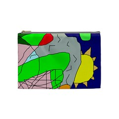 Crazy Abstraction Cosmetic Bag (medium)  by Valentinaart