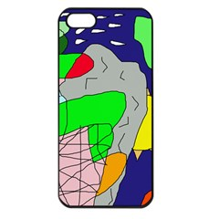 Crazy Abstraction Apple Iphone 5 Seamless Case (black) by Valentinaart