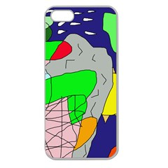 Crazy Abstraction Apple Seamless Iphone 5 Case (clear) by Valentinaart