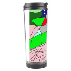 Crazy Abstraction Travel Tumbler by Valentinaart