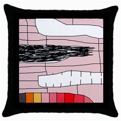 Worms Throw Pillow Case (black) by Valentinaart