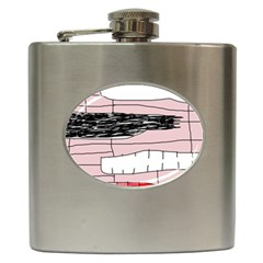 Worms Hip Flask (6 Oz) by Valentinaart