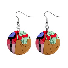 Imaginative Abstraction Mini Button Earrings