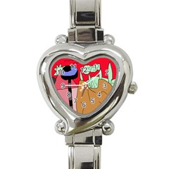 Imaginative Abstraction Heart Italian Charm Watch by Valentinaart