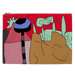 Imaginative Abstraction Cosmetic Bag (xxl)  by Valentinaart