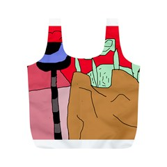 Imaginative Abstraction Full Print Recycle Bags (m)  by Valentinaart