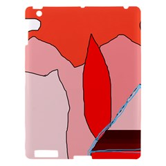 Red Landscape Apple Ipad 3/4 Hardshell Case by Valentinaart