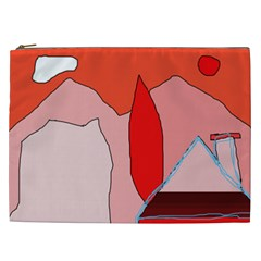 Red Landscape Cosmetic Bag (xxl)  by Valentinaart