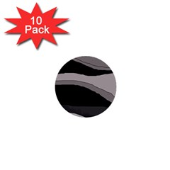 Black And Gray Design 1  Mini Buttons (10 Pack)  by Valentinaart