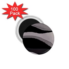 Black And Gray Design 1 75  Magnets (100 Pack)  by Valentinaart