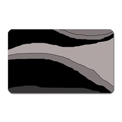 Black And Gray Design Magnet (rectangular) by Valentinaart