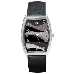 Black And Gray Design Barrel Style Metal Watch by Valentinaart